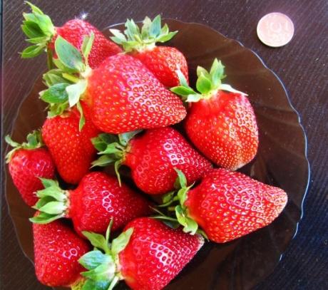 Фото ягод сорта Азия клубника